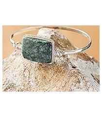 jade bangle bracelet, 'mixco modern' (guatemala)