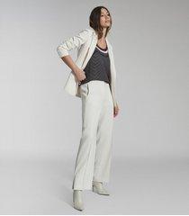 reiss tori - scarf print sleeveless top in navy print, womens, size 14