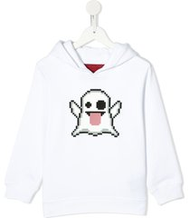 mostly heard rarely seen 8-bit spooky relaxed-fit hoodie - white