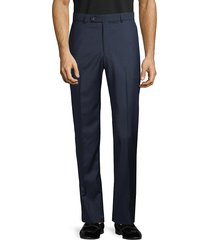 saks fifth avenue men's marzotto italian fabric-flat front wool pants - navy - size 30