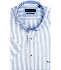 giordano overhemd gestreept lange mouwen button down regular fit