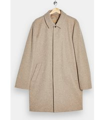 mens brown stone classic fit overcoat