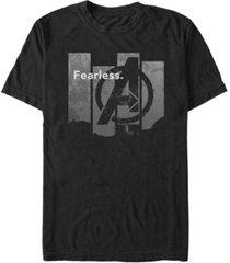 marvel men's avengers endgame fearless panel, short sleeve t-shirt