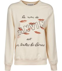 lanvin lip printed sweatshirt