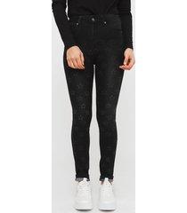 jeans il gioco kim negro - calce ajustado
