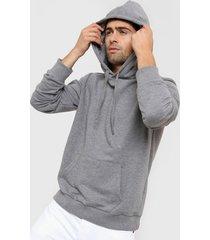 buzo gris saint con capucha