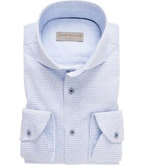 john miller shirt tailored fit print lichtblauw