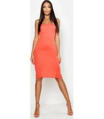 bandeau midi dress, orange