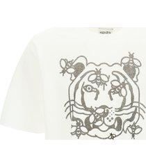kenzo bee a tiger print t-shirt
