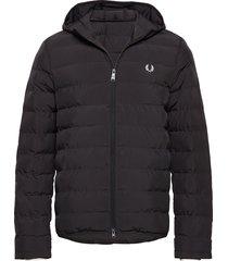 hooded jacket fodrad jacka svart fred perry