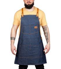delantal azul oily ride work vest