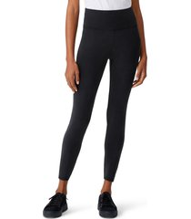 eileen fisher high waist ankle leggings, size xx-small in black at nordstrom