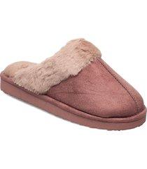 fake suede mule slippers tofflor rosa hunkemöller