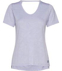 q speed breathe short sleeve t-shirts & tops short-sleeved lila new balance