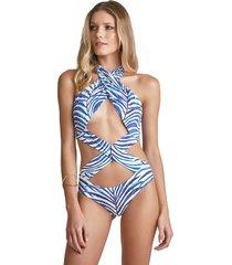 body empress brasil sasha estampa indigo azul