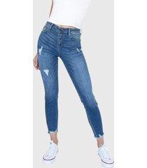 jeans skinny tiro medio memphis azul racaventura