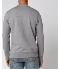 ps paul smith men's zebra logo regular fit sweatshirt - grey melange - s