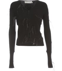 marquesalmeida light weight feather fitted cardigan