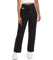women's cross colours straight leg jeans, size small - black