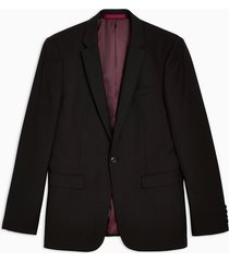 mens black skinny fit single breasted suit blazer with notch lapels