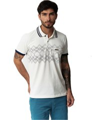 camiseta tipo polo-puntazul-marfil-41438