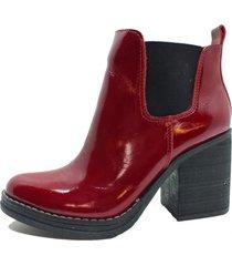 botin cuero roberta rojo amano shoes