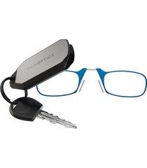 thinoptics gafas para leer con llavero marco azul