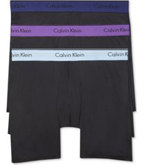 calvin klein men's microfiber stretch boxer brief 3-pack