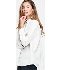 blus karolina washed silk