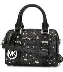 michael michael kors extra-small bedford travel crossbody bag - black