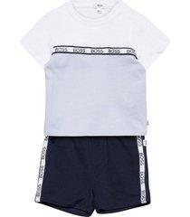 t-shirt and bermuda shorts 2-piece sets blauw boss