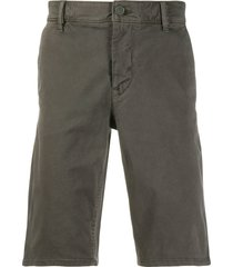 boss slim-fit chino shorts - grey