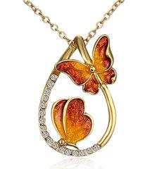 farfalla di lusso collane ciondolo farfalla strass goccia collane regalo per le donne
