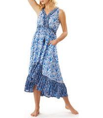 women's tommy bahama woodblock cover-up dress
