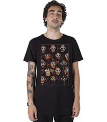 camiseta longline stoned 3d session masculina