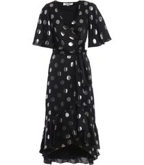 sareth polka dot silk jacquard dress