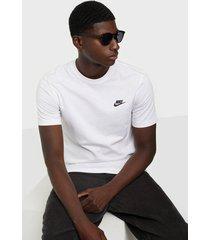 nike sportswear m nsw club tee t-shirts & linnen white