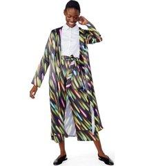 amaro feminino kimono manga longa estampado, wish