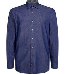 overhemd slim fit blauw