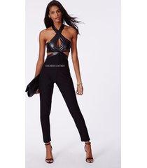 women pure leather jumpsuit genuine lambskin catsuit romper all color tailor-208