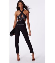 women pure leather jumpsuit genuine lambskin catsuit romper all color tailor-208