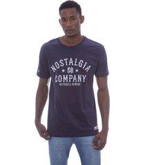 camiseta mitchell & ness branded nostalgic company azul marinho - azul marinho - masculino - dafiti