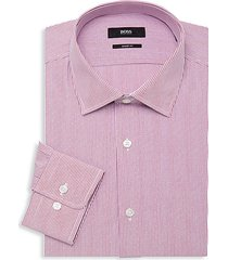 sharp-fit striped dress shirt