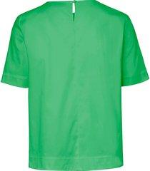blouse met korte mouwen van peter hahn groen