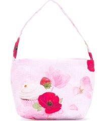 lapin house bolsa tiracolo floral - rosa