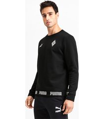 borussia mönchengladbach football culture sweater voor heren, zwart, maat xl   puma
