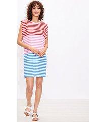 loft petite striped muscle tee dress