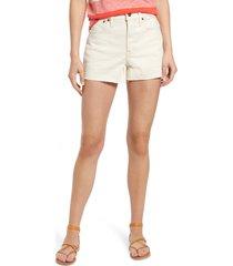women's madewell women's the perfect high waist cutoff jean shorts, size 26 - ivory