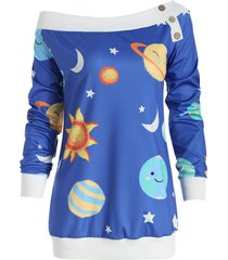 sun and moon print sweatshirt