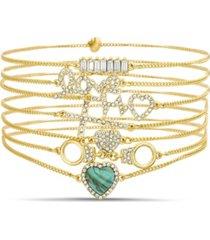 7-piece adjustable bracelet set